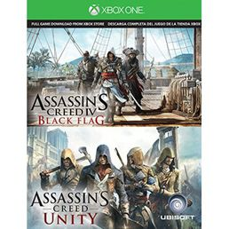 Assassins Creed IV Black Flag & Unity latauskoodi Xbox One
