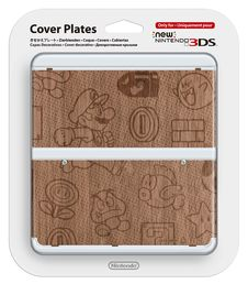 New Nintendo 3DS cover plate Super Mario Theme Wooden