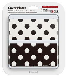 New Nintendo 3DS Cover Plate Black/White dots