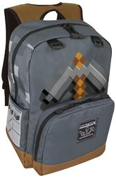 Minecraft Backpack Pickaxe Adventure Grey Reppu