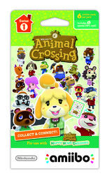 Animal Crossing amiibo Series 1 Cards Pack (3 kpl)