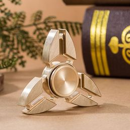Brass Hand Spinner Triangular