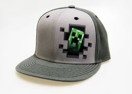 Minecraft Grey Creeper Snapback lippis
