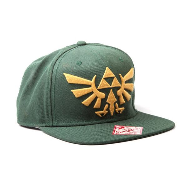 Zelda Green Snapback with Golden Logo Cap Lippis  dec27ef1ae